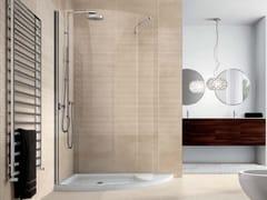 Box doccia con piatto doccia e vetro fisso VELAS VLPTL+VLFI - Velas