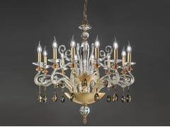 Lampadario foglia oro con cristalli Swarovski® VENERE L12 CHIC - Venere Special Edition