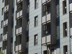Sistema per facciata ventilata a scandole con gancio a vistaVENERE SORMONTATO - DALLERA TECNOLOGIE