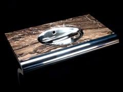 Lavabo ovale a consolle in acciaio inoxVENTI | Lavabo ovale - COMPONENDO