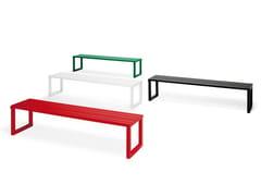 Panchina in alluminio VENTIQUATTRORE.H24 | Panchina senza schienale - Ventiquattrore.h24