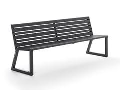 Panchina in alluminio con schienale VENTIQUATTRORE.H24 | Panchina con schienale - Ventiquattrore.h24