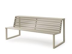 Urbantime, VENTIQUATTRORE.H24 | Panchina con schienale  Panchina con schienale