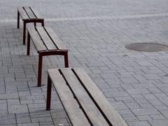 Panchina in acciaio e legno senza schienaleVERA | Panchina senza schienale - MMCITÉ1