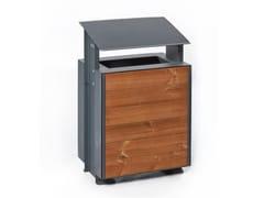 Punto Design, VERONA | Portarifiuti in acciaio e legno  Portarifiuti in acciaio e legno