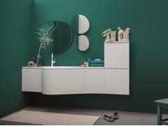 Mobile lavabo componibile laccato sospeso VERSA COMP. 4 - Versa