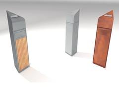 Portarifiuti con coperchio con portacenere per esterniVERSA V2/V3 - MANUFATTI VISCIO