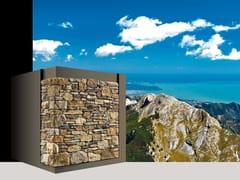Rivestimento di facciata in pietra ricostruita VERSILIA P86 - Profilo SCAGLIATO