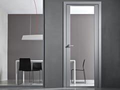 Porta a battente in alluminio e vetro con cerniere a scomparsa VETRA PRO -