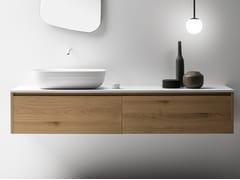 Mobile lavabo singolo sospeso con cassetti VIAVENETO | Mobile lavabo con cassetti - ViaVeneto