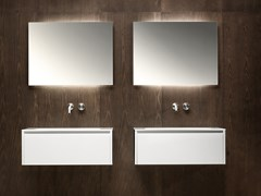 Mobile lavabo laccato sospeso con cassetti VIAVENETO | Mobile lavabo laccato - ViaVeneto