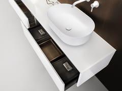 Mobile lavabo laccato singolo con cassetti VIAVENETO | Mobile lavabo laccato - ViaVeneto