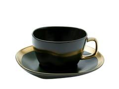 Tazza da caffè in ceramica con piattinoVIBRATIONS | Tazza con piattino - KARE DESIGN