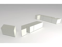 Panchina modulare in pietra ricostruita senza schienaleVICEVERSA V01/V02/V03 - MANUFATTI VISCIO