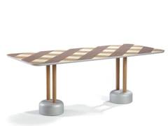 Tavolo rettangolare in legno VICHY | Tavolo -