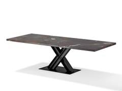 Tavolo rettangolare in pietra naturale VICTOR | Tavolo in pietra naturale -