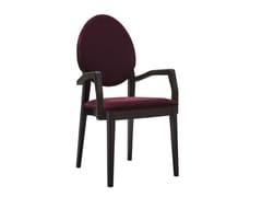 Sedia a medaglione imbottita con braccioli VICTORIA 199 - Victoria