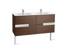 Mobile lavabo doppio in legno VICTORIA-N | Mobile lavabo doppio - Victoria-N