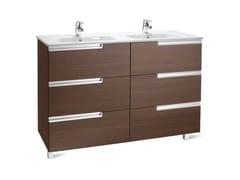 Mobile lavabo doppio in legno con cassetti VICTORIA-N | Mobile lavabo - Victoria-N