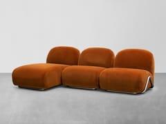 Divano modulare in tessuto con chaise longueVICTORIA | Divano con chaise longue - TACCHINI ITALIA FORNITURE