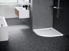 Piatto doccia semicircolare con profili in acciaioVICTORY - NOVELLINI