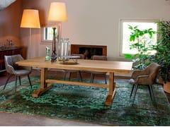 Tavolo da cucina da pranzo in legno masselloVIKING - DEVINA NAIS