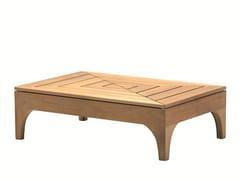 Tavolino da giardino rettangolare in teak VILLAGE | Tavolino rettangolare - Village