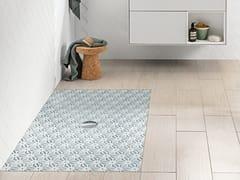 Piatto doccia rettangolare in ceramica VIPRINT – Inspired by Geometry - Subway Infinity