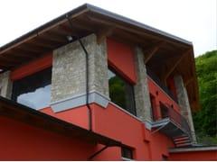 Rivestimento di facciata in pietra ricostruita VIRLE P80 - Profilo SQUADRATO
