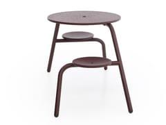 Tavolo per spazi pubblici con sedie integrateVIRUS 2-SEATER - EXTREMIS
