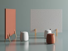 Divisorio ufficio fonoassorbente freestanding ignifugo in tessutoVIS ROOM DIVIDER - BK CONTRACT EQUIPMENT