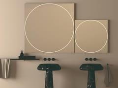 Specchio con illuminazione integrata da parete per bagnoVITRUVIO - AGAPE