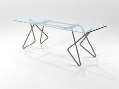 Tavolo in tubo pieno di ferro e cristalloVITTORIA - BAREL