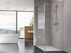 DUSCHOLUX, VIVA Box doccia in vetro con porta a battente