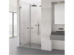Box doccia a nicchia con porta a battenteVIVA | Box doccia - DUSCHOLUX