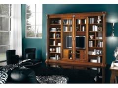 Libreria in legno massello con porta tvVIVRE LUX | Libreria in legno - ARVESTYLE