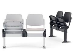 Seduta su barra a pavimento con sedile ribaltabileVOLÉE EASY SOFT | Seduta su barra con sedile ribaltabile - DIEMMEBI