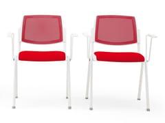 Sedia impilabile in tessuto con braccioliVOLÉE NET SOFT | Sedia - DIEMMEBI