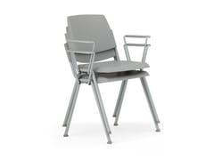 Sedia in polipropilene con braccioliVOLÉE | Sedia con braccioli - DIEMMEBI