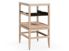 Modulo cucina freestanding in legno masselloVOLITARE | mobile aperto con ripiano - COQUO