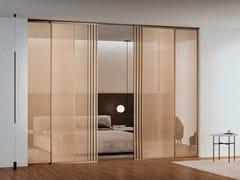 Porta scorrevole in vetro a soffittoVOLTA - BARAUSSE