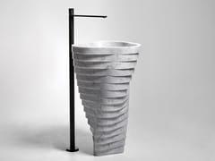 Lavabo freestanding in marmo di CarraraVORTICE - ANTONIO LUPI DESIGN®