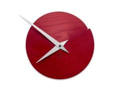 Orologio in legno da pareteVULCANELLO RED ASH - LEONARDO TRADE
