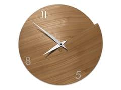 Orologio in legno da pareteVULCANO NUMBERS ELM - LEONARDO TRADE