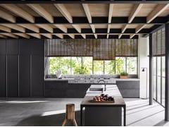 Cucina in legno con isola senza maniglie VVD | Cucina con isola -