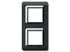 Placca in tecnopolimero per scatola tonda o quadrataVerticale tonda / quadra TP 44 | Nero Assoluto - AVE