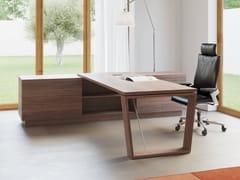 Scrivania rettangolare in legno impiallacciato con scaffaliW HOME OFFICE - BK CONTRACT EQUIPMENT