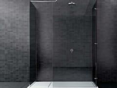 Box doccia con doppio lato fisso ad angolo + lato fisso WALK-IN WK2L+WK1L - Walk-in