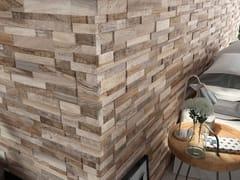 Rivestimento in gres porcellanato effetto legnoWALL ART TAUPE - CERAMICA RONDINE