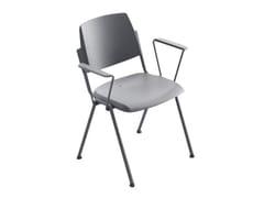 Sedia impilabile con braccioli per sale d'attesa WAMPA | Sedia con braccioli -